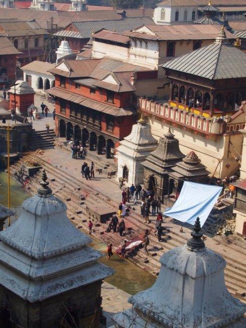 Burning Ghats at Pashupatinath on Kathmandu