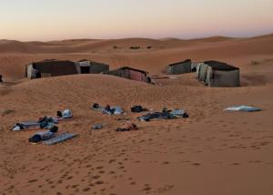 Camping out in the Sahara