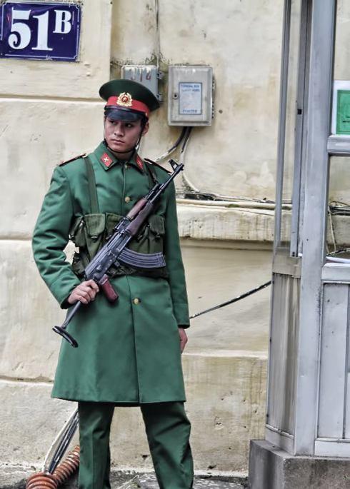 policeman in hanoi