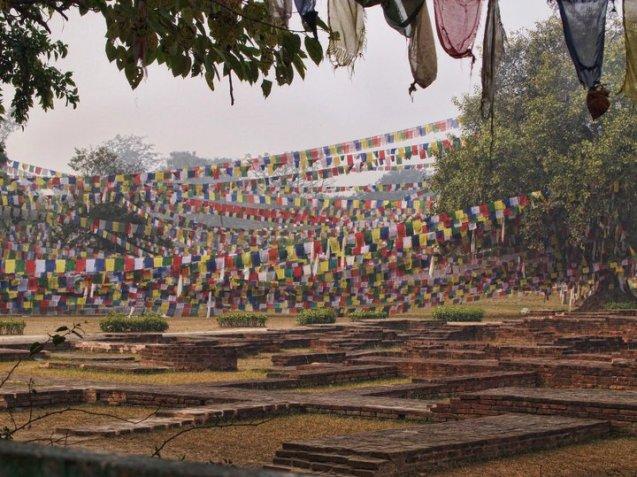 Prayer flags at Bhairawa, Nepal