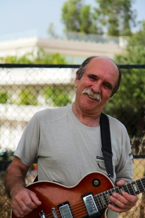 A street musician in Athens Greece