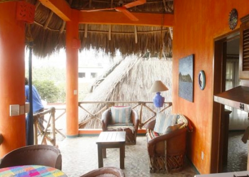 Aurinko Bungalows - each bungalow has an outdoor kitchen/patio