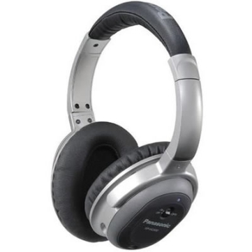 Panasonic RP HC500 Noise Cancelling Headphones - folds down and comes with a travel case and airplane seat adapter
