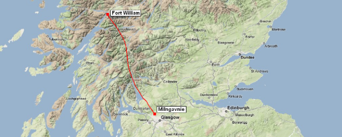 The West Highland Way - it is strongly recommended you hike south to north to experience the dramatic and majestic scenery as it unfolds in front of you